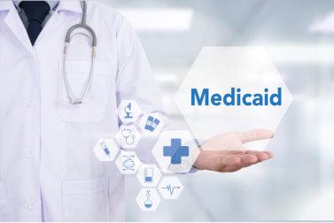 Экран с мед.услугами и надписью Medicaid